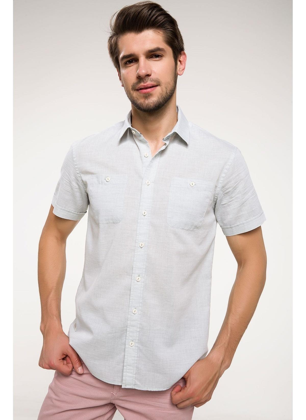 Defacto Slim Fit Kısa Kollu Gömlek I4602az18smtr359gömlek – 49.99 TL